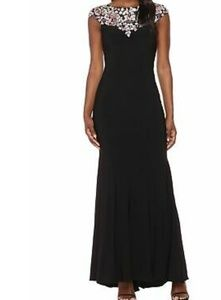 NWT Jewel Neck Gown